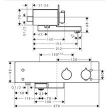 Grifo termostático de bañera 350 ShowerTablet...