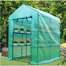 Invernadero para jardín con estantería Outsunny