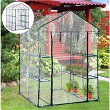 Invernadero transparente de jardín Outsunny
