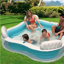 Piscina hinchable con asientos 229x66 Intex