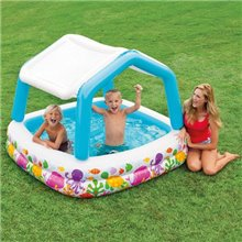 Piscina infantil hinchable Parasol 157x157 Intex