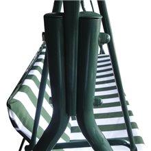 Balancín verde y blanco con parasol Juliette...