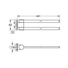 Toallero doble giratorio cromo Selection Grohe