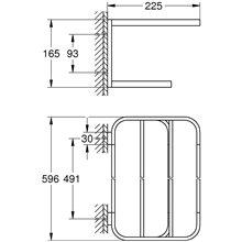 Toallero múltiple 60cm cromo Selection Grohe
