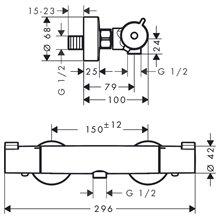 Grifo termostático de ducha Ecostat 1001 CL Hansgrohe