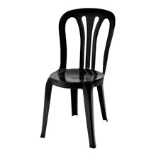 Set de 22 sillas color negro EcoGarrotxa Resol