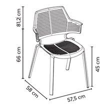 Juego de 2 sillas gris oscuro Ikona Resol