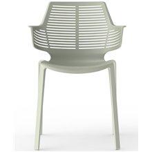 Juego de 2 sillas gris verdoso Ikona Resol