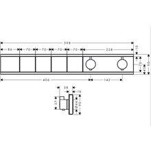 Grifo termostático con cuatro funciones cromo RainSelect Hansgrohe