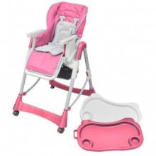 Trona de bebé Deluxe de altura ajustable rosa...