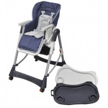 Trona de bebé Deluxe de altura ajustable azul...