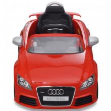 Coche de juguete rojo con mando, modelo Audi TT...