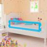 Barandilla de seguridad cama de niño 150x42 cm azul Vida XL