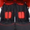 Carrito para gemelos de acero rojo y negro Vida XL