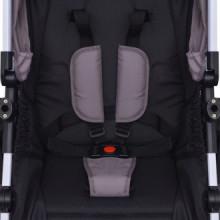 Cochecito de bebé 3 en 1 gris y negro aluminio...
