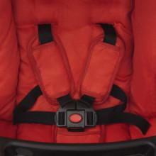 Sillita de paseo 102x52x100 cm roja Vida XL