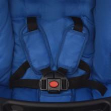 Sillita de paseo 102x52x100 cm azul Vida XL
