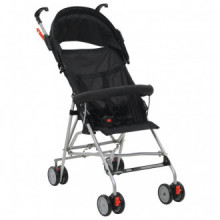 Sillita de paseo para bebé negra acero Vida XL