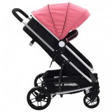 Cochecito/Silla de bebé 2 en 1 aluminio rosa y...