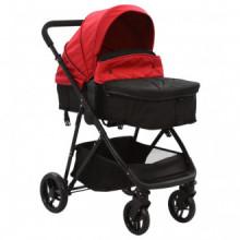 Cochecito/Silla de bebé 2 en 1 acero rojo y...