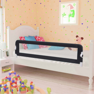 Barandilla de seguridad cama de niño poliéster gris 150x42 cm Vida XL