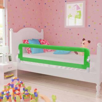Barandilla de seguridad cama de niño poliéster verde 120x42 cm Vida XL