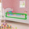 Barandilla de seguridad cama de niño poliéster verde 180x42 cm Vida XL