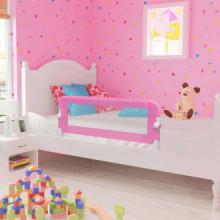 Barandilla de seguridad cama de niño poliéster rosa 120x42 cm Vida XL