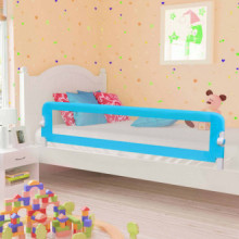 Barandilla de seguridad cama de niño poliéster azul 180x42 cm Vida XL