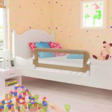 Barandilla de seguridad cama de niño poliéster taupe 120x42 cm Vida XL