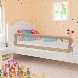 Barandilla de seguridad cama de niño poliéster taupe 180x42 cm Vida XL