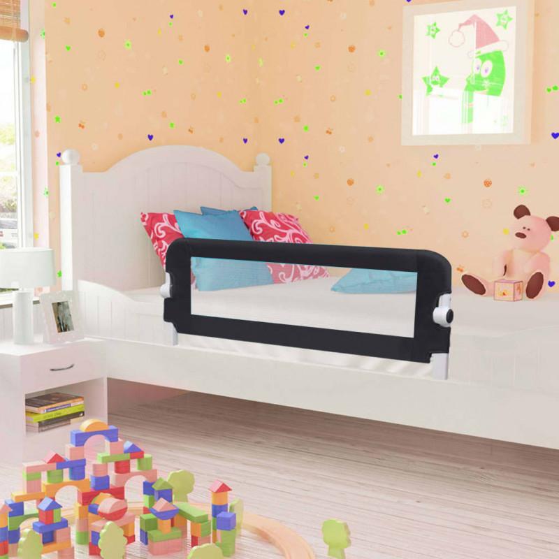 Barandilla de seguridad cama de niño poliéster gris 120x42 cm Vida XL