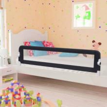 Barandilla de seguridad cama de niño poliéster gris 180x42 cm Vida XL