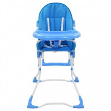 Trona de bebé azul y blanco  Vida XL