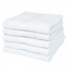 Toallas de sauna 5 uds algodón 500 gsm 80x200...