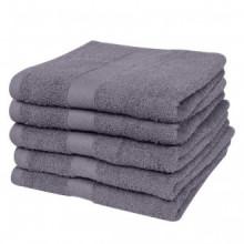 Toallas de baño 5 unidades algodón 500 gsm...