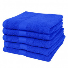 5 Toallas de algodón de color azul elegante, 70...