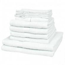 Juego de toallas 12 piezas algodón 500 gsm...