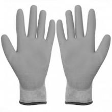 Guantes de trabajo PU 24 pares blanco y gris...