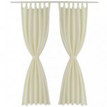 2 cortinas micro-satinadas con trabillas 140 x...