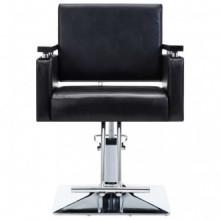 Silla de peluquería cuero sintético negra Vida XL