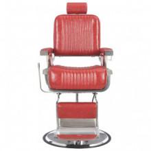 Silla de peluquería de cuero sintético rojo...