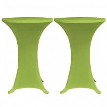 Funda elástica para mesa 2 unidades 60 verde...