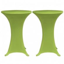 Funda elástica para mesa 2 unidades 70 verde...