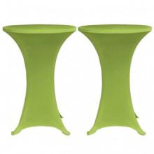 Funda elástica para mesa 2 unidades 80 verde...