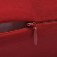 4 fundas rojas para cojines de algodón, 4040...