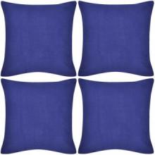 4 fundas azules para cojines de algodón, 8080 Vida XL 130921