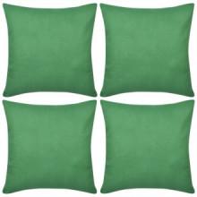 4 fundas verdes para cojines de algodón, 8080...