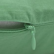 4 fundas verde manzana para cojines de algodón,...