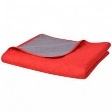 Colcha de cama doble cara roja y gris 170x210 Vida XL